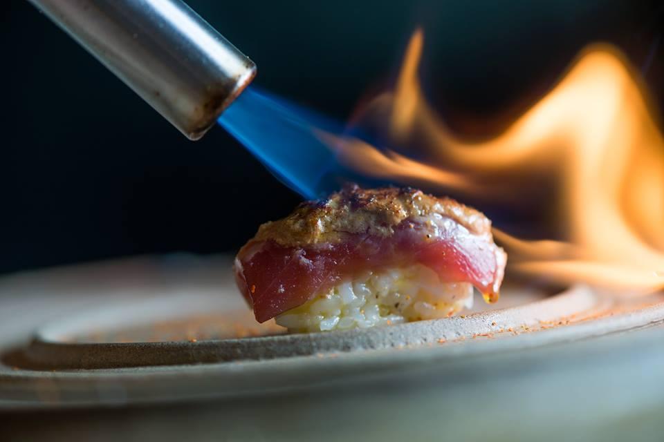 sushi atum foi gras